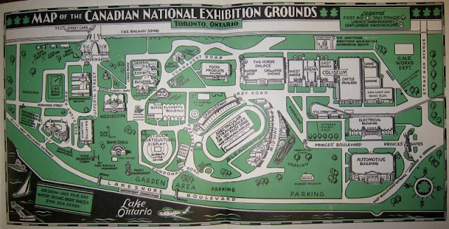 Map of the Canadian National Exhibition Grounds. 1963.