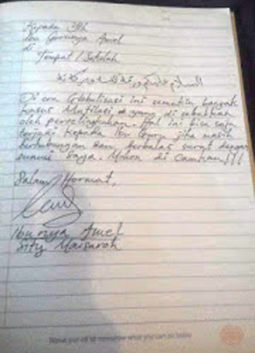 Surat Balasan Dari Ibunya Amel