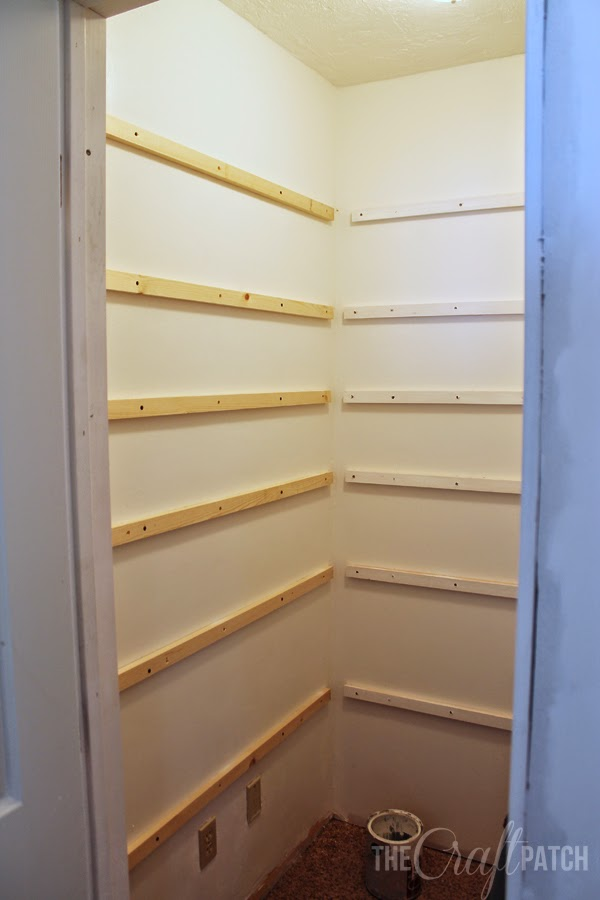 The Craft Patch How To Build Pantry Shelving