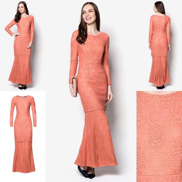 Baju Raya 2016 Baju Kurung Moden Lace Minimalis Fesyen Trend Terkini