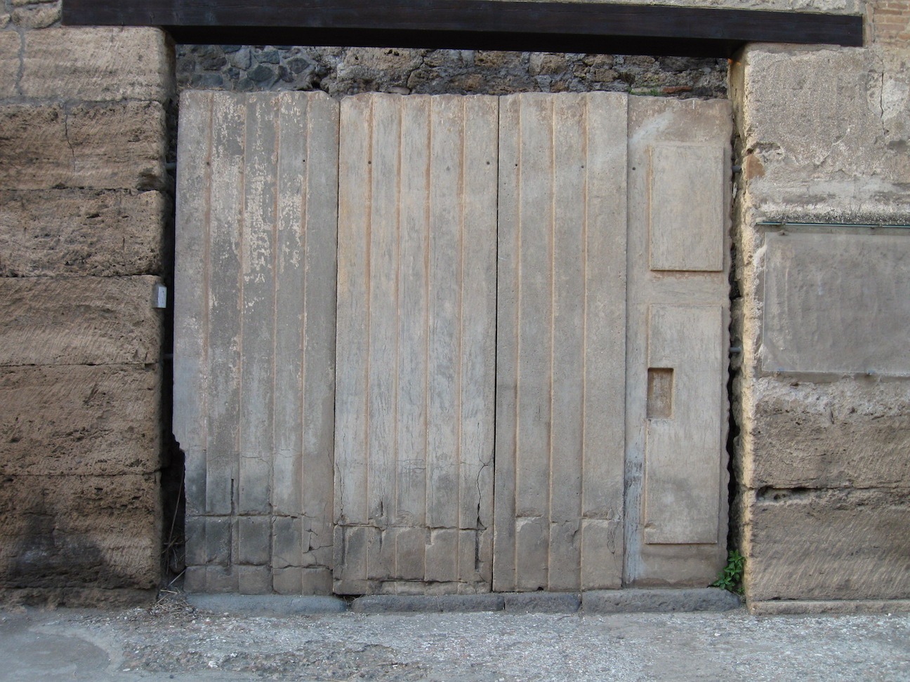 famous plaster cast of shuttered doors from Pompeii & The History Girls: Ancient Roman Doorporn