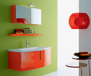 bright red green white kids bathroom paint colours feats glass pendant light shade plus floating shelf