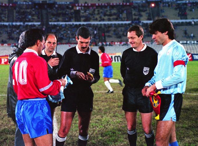 Uruguay y Chile en partido amistoso, 26 de junio de 1991
