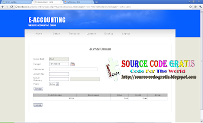Download Gratis Source Code PHP E-Accounting