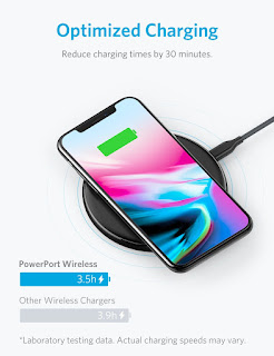 Anker PowerPort Wireless 5 Pad, 5W Standard Qi-Certified Ultra Slim Wireless Charger for iPhone X, iPhone 8 / 8 Plus (AC Adapter Not Included)