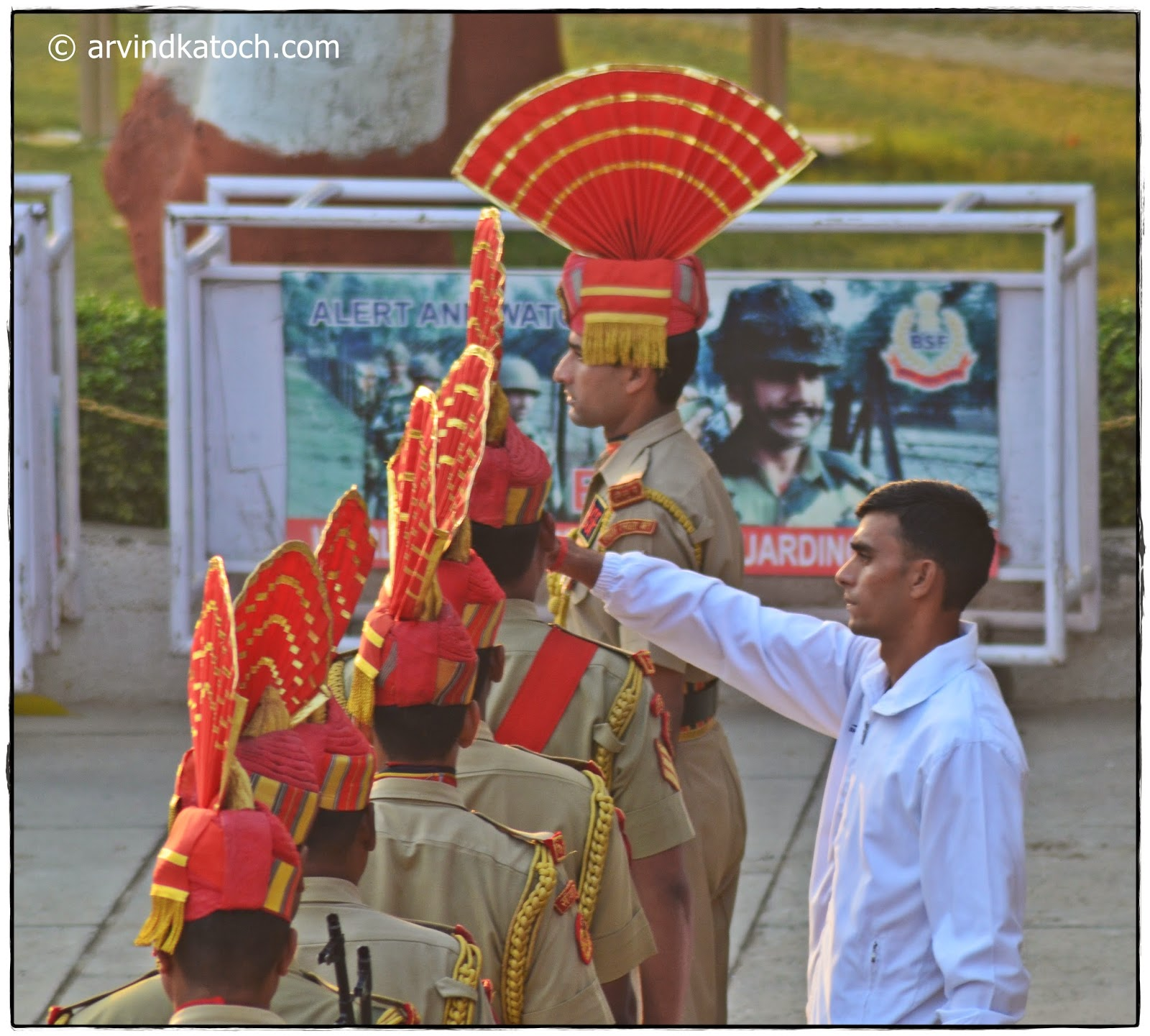 BSF Jawans, Beating Retreat Ceremony, Wagah Border