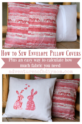How to Sew Envelope Pillow Covers