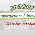 FUOYE 2016-17 Final Supplementary Admission List For [UTME, CC & DE] Out