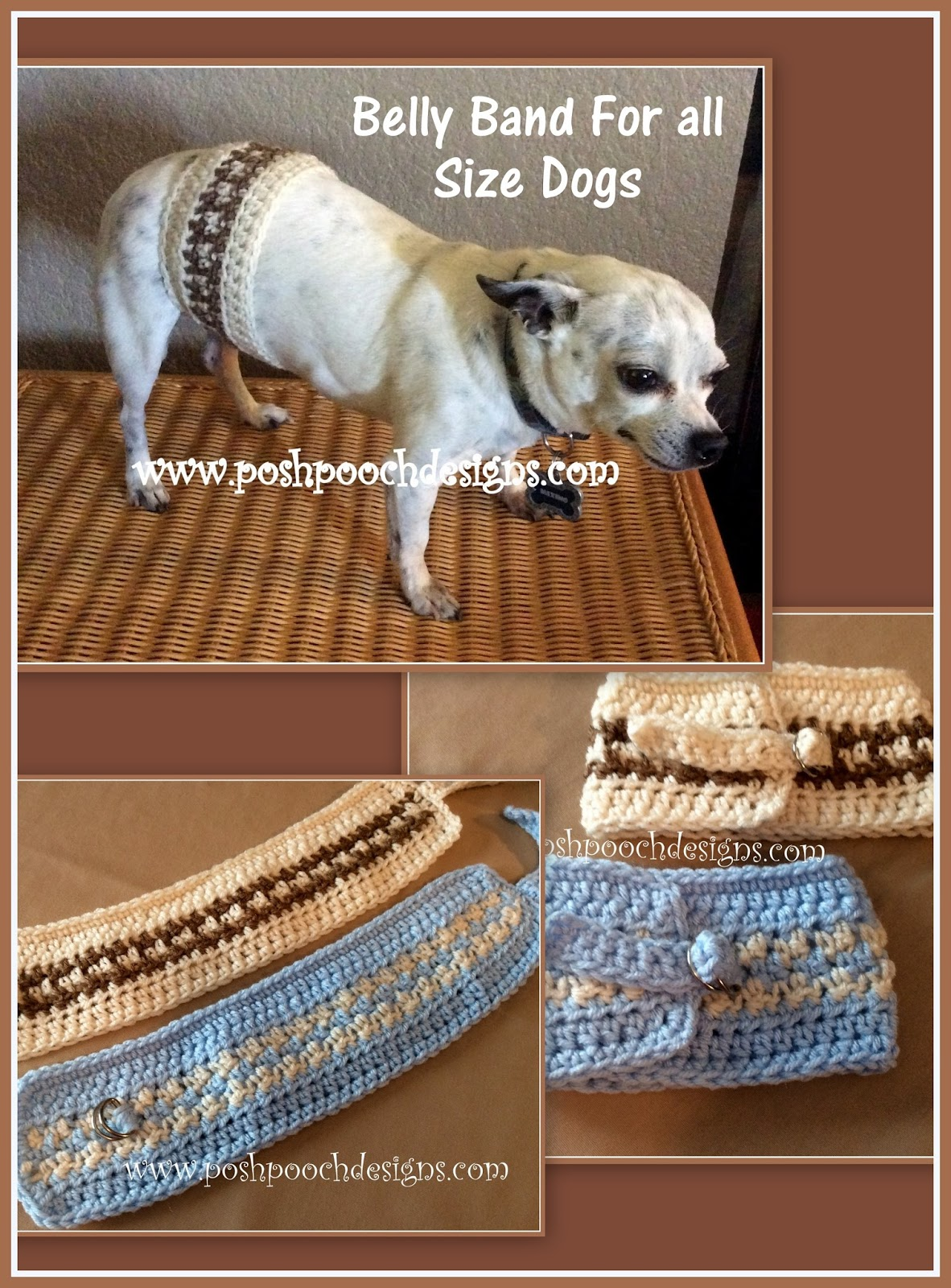 Posh Pooch Designs Dog Clothes Belly Band For All Size