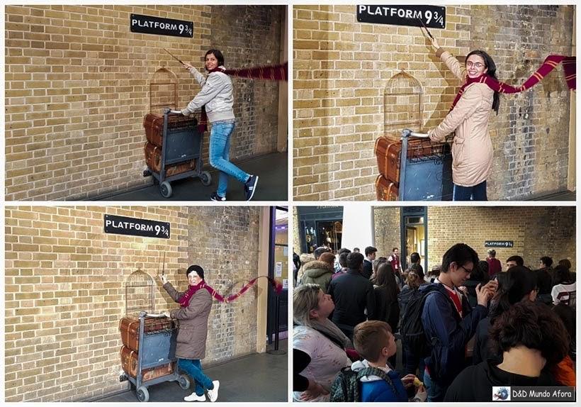 Estação king Cross - Plataforma 9 3/4 - Diário de Bordo - 5 dias em Londres