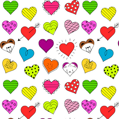 Free Digital Heart Scrapbooking Paper Nursery Printable