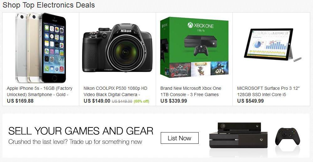 eBay-Shop Top Electronics Deals