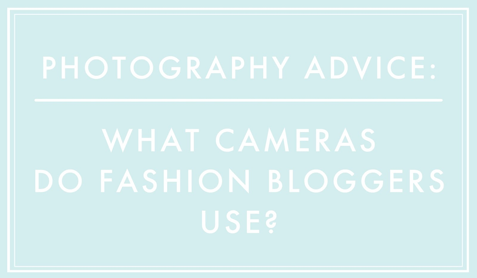 fashion blogging advice