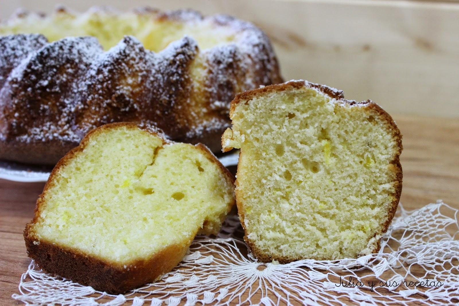 Bizcocho de queso crema y limón. Julia y sus recetas