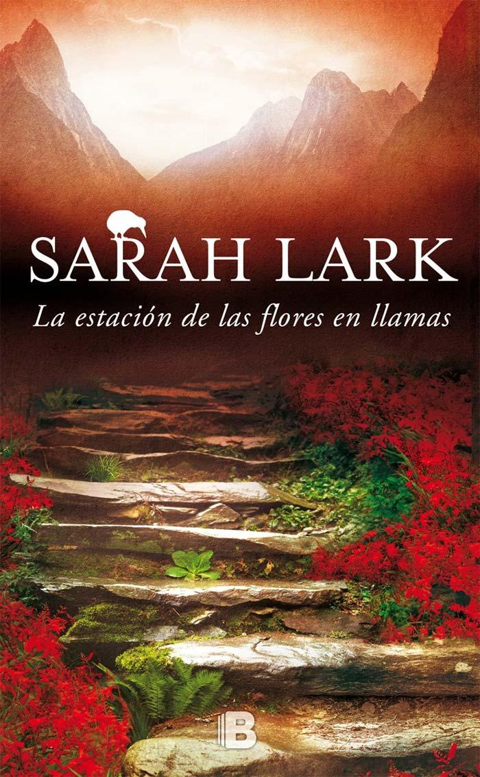 Portada La estación de las flores en llamas de Sarah Lark