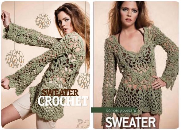 Jersey Romantico de Crochet Patron