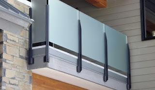 model railing tangga kaca