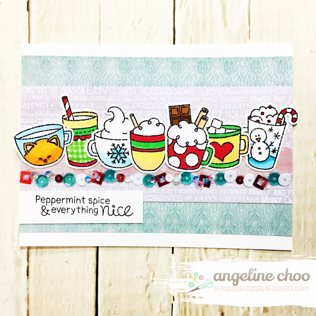 Peppermint spice & everything nice by Angeline features Cup of Cocoa by Newton's Nook Designs; #newtonsnook