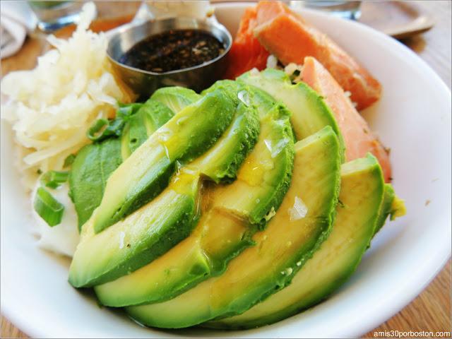 Samovar Tea Lounge: Salmon Egg and Avocado Bowl $17