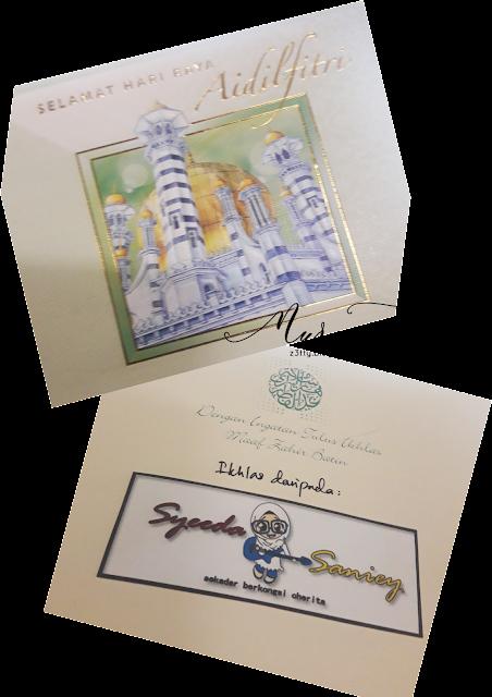 Kad Raya Giveaway Dari Blogger Syeeda Saniey Dah Sampai!