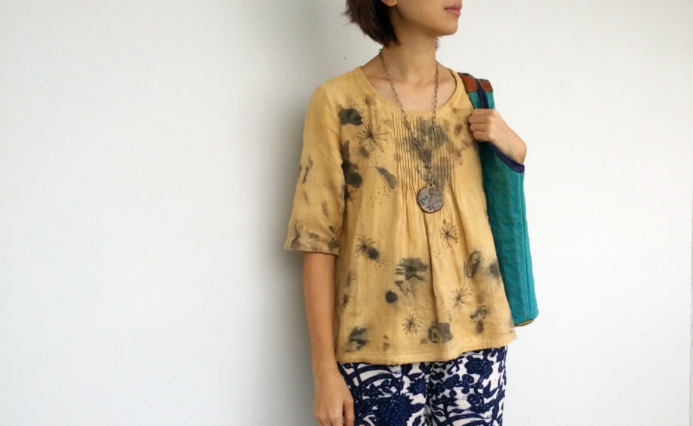 Upcycling with eco dyes and embroidery