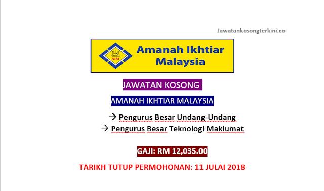 Jawatan Kosong Amanah Ikhtiar Malaysia 2018