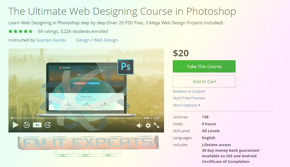 GET] The Ultimate Web Designing Course in Photoshop Udemy Course