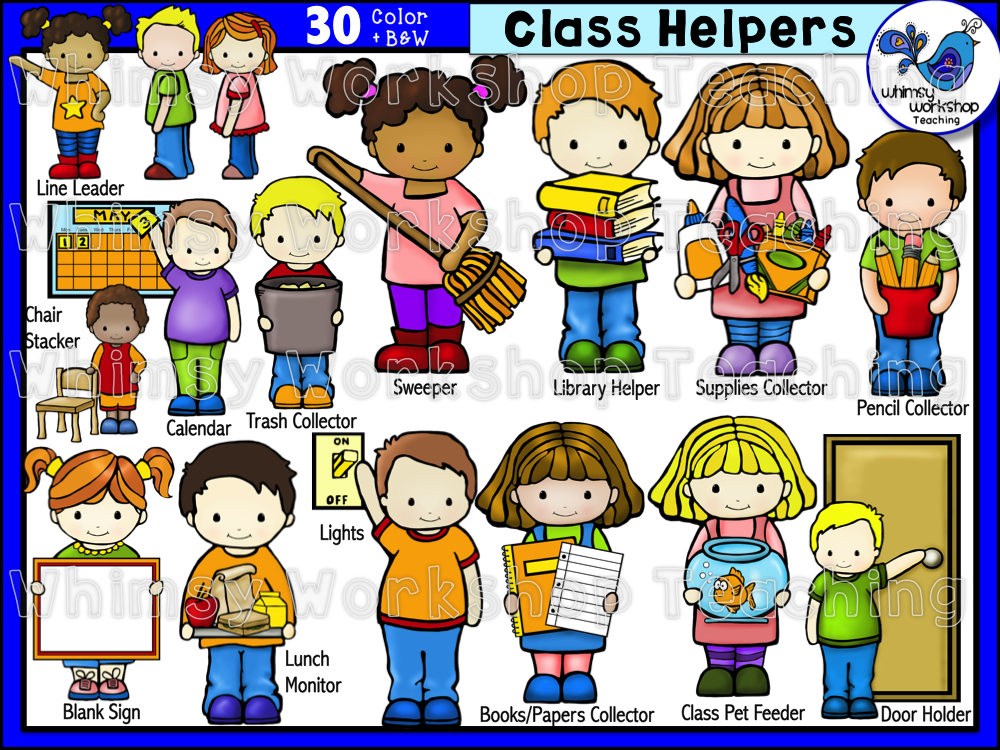 kindergarten clipart classroom jobs - photo #28