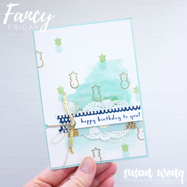 Fruit Basket by Stampin' Up! - Susan Wong for Fancy Friday
