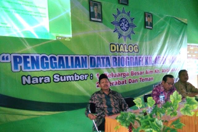 Penuh Haru, Dialog Penggalian Data Biografi KH. Abdi Manaf