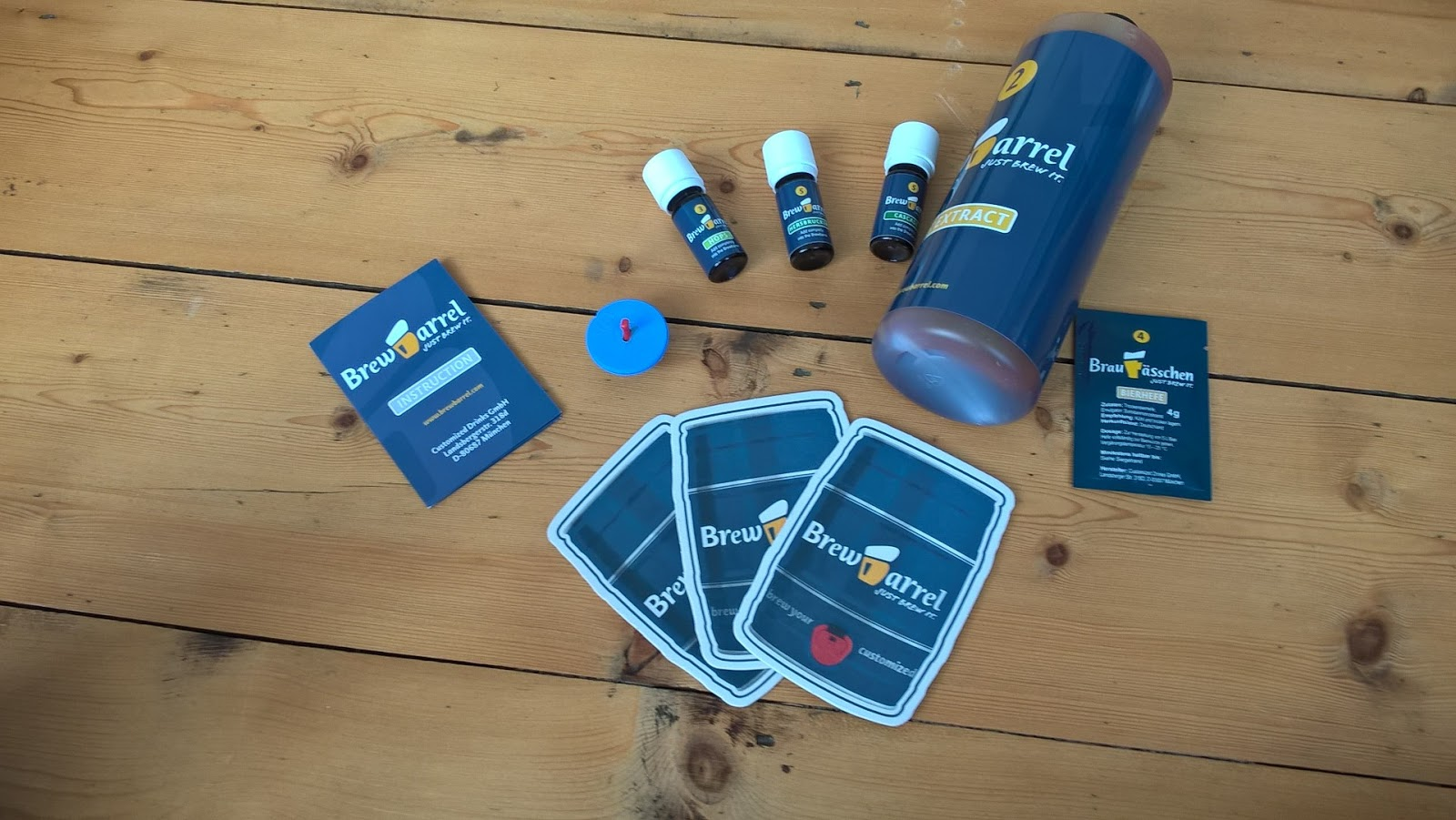 The contents of the Brewbarrel kit - review & giveaway - home brew - motherdistracted.co.uk