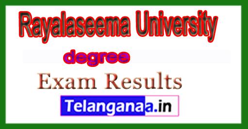 Rayalaseema University Degree 1st 3rd Sem Exam Results 2018