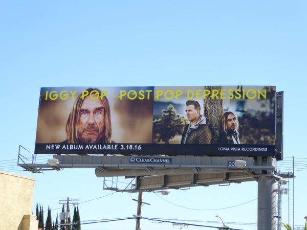 Iggy Pop Post Pop Depression album billboard