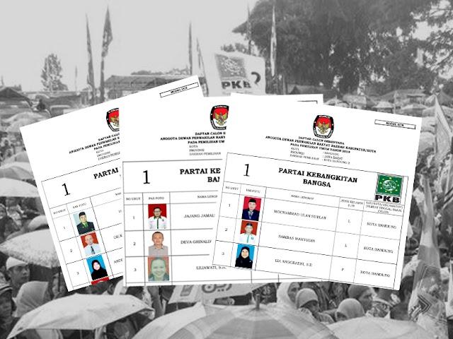 Daftar Calon Sementara Anggota DPRD Kota Bandung Pemilu 2019 dari PKB