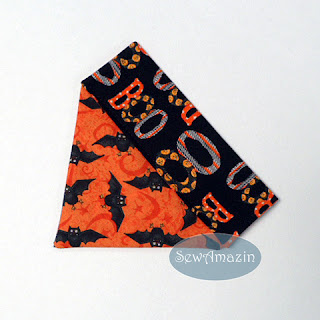 Halloween Dog Bandana, over the collar, Boo Bats