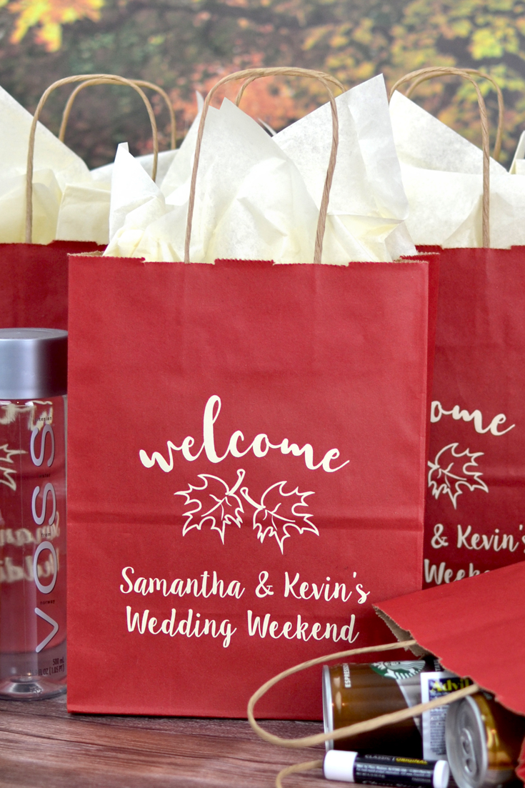 Berry Red Fall Welcome Gift Bag