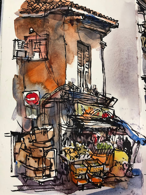 Clive Street, Little India Singapore Urbansketchers