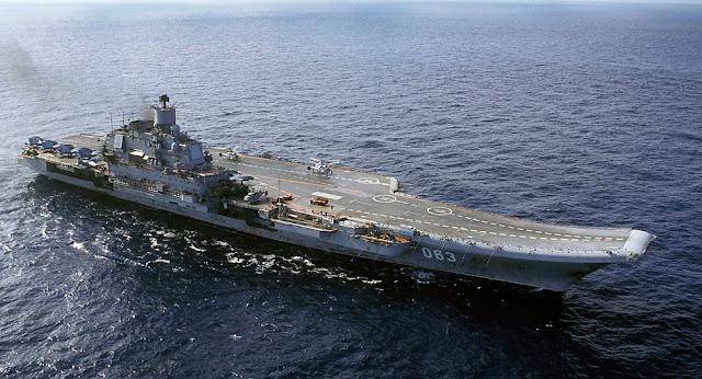A frota naval da Rússia, liderada pelo porta-aviões Almirante Kuznetsov, será a primeira a regressar do país devastado pela guerra
