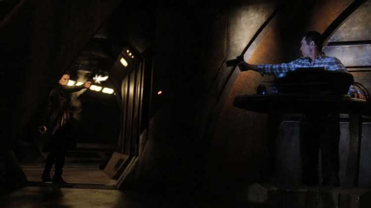 "Telford and Kiva in Stargate Universe's ""Incursion"""