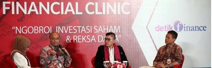 Hasil dari pertemuan OJK yang bertajuk Financial Clinic di Balai Kartini Jakarta, membahas tentang investasi dan reksadana