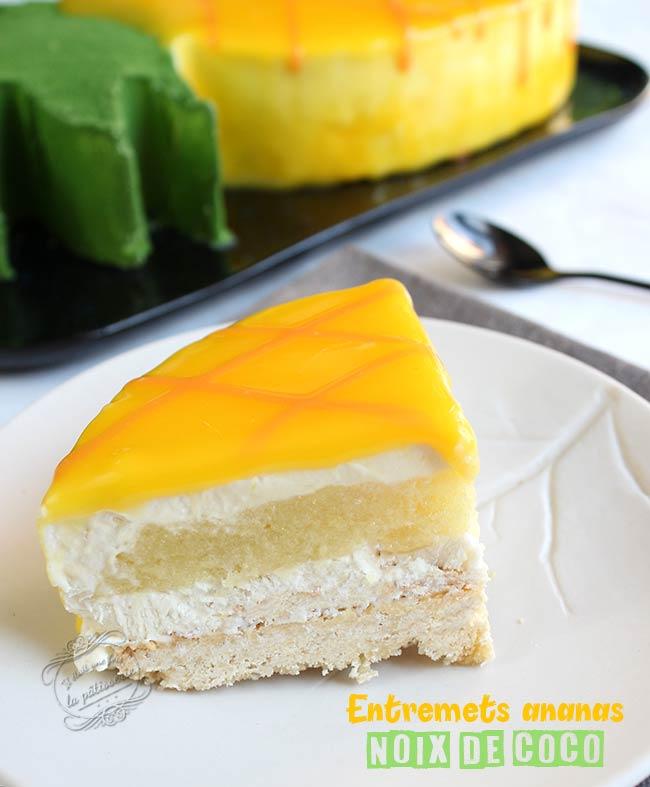dessert entremets ananas coco
