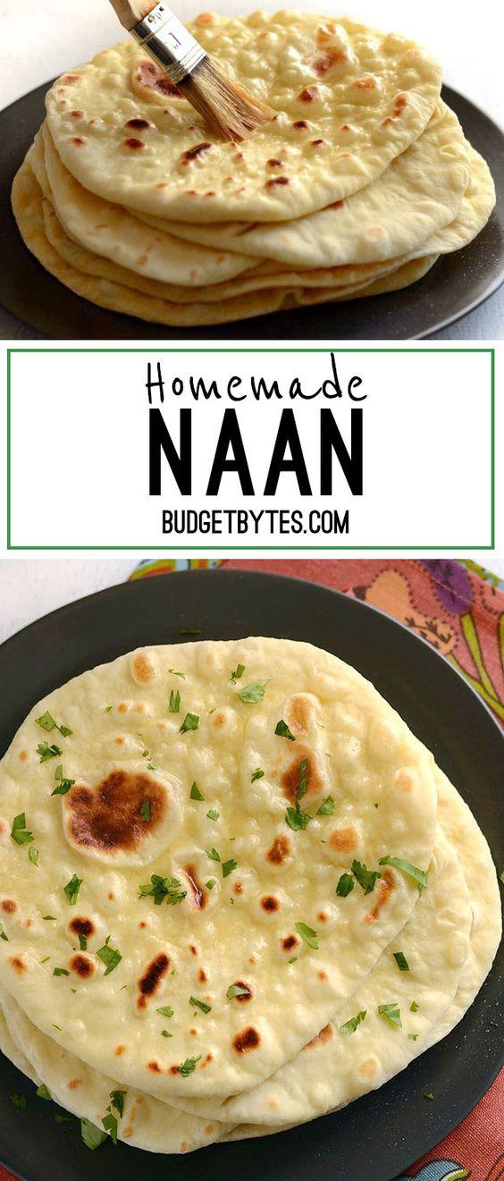 HOMEMADE NAAN BREAD #homemade #naan #naanbread #vegetarianrecipes #bread
