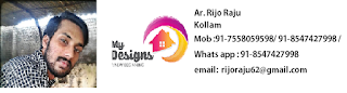 A Contemporary Style Home Design of 1300 Sqft, which can be finished in less than 20 Lakhs Rs.