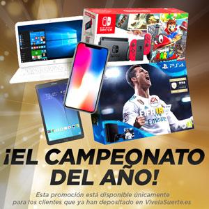 vivelasuerte gana iPhone X 64GB o Samsung Galaxy Tab 15-19 marzo