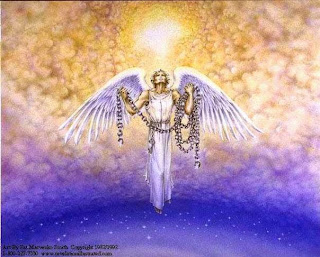 The arcangels of God with chains