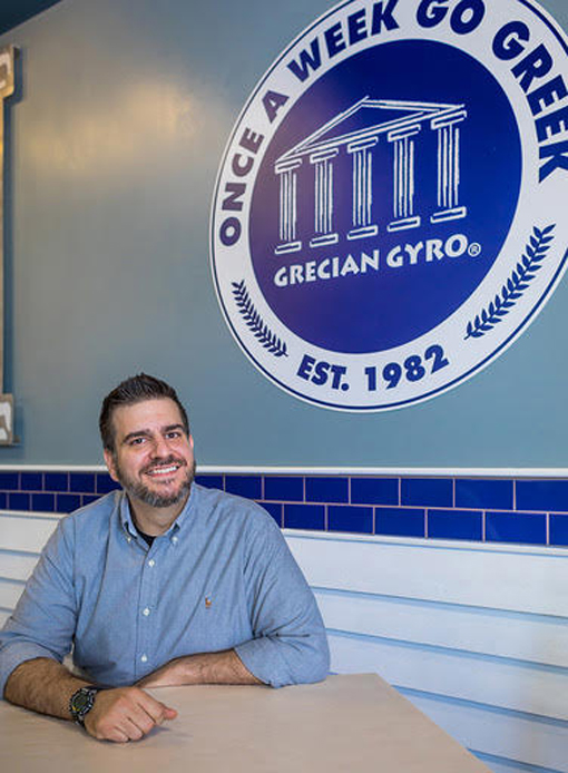 George N. Koulouris, Owner, Grecian Gyro | Photo: Christopher Watkins