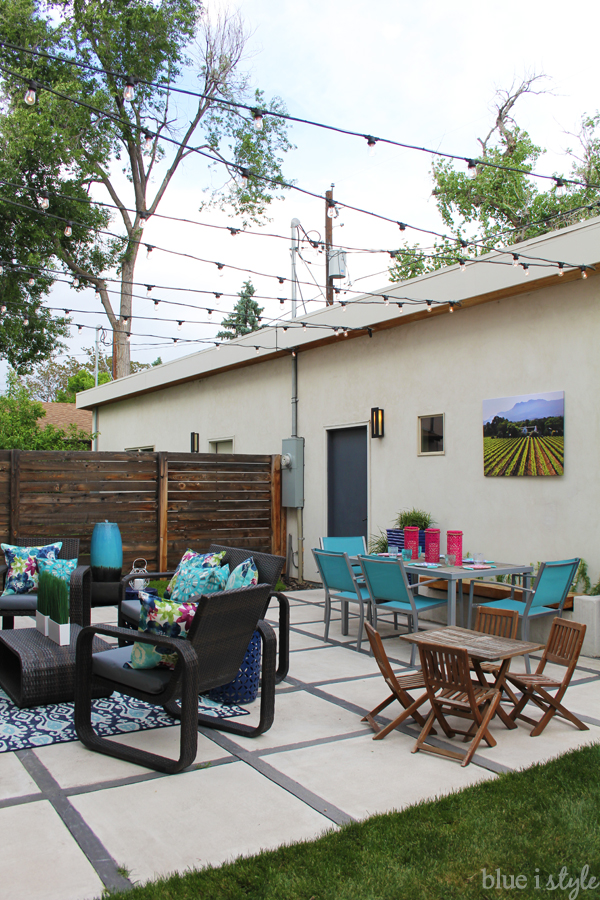 How to Hang Patio String Lights | Blue i Style - Creating an