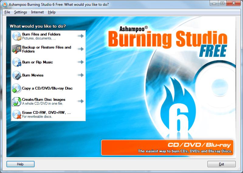 Ashampoo Burning Studio Free - Best Free CD-DVD Burning Software
