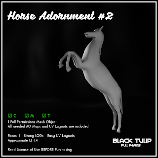 [Black Tulip] Mesh - Horse Adornment #2
