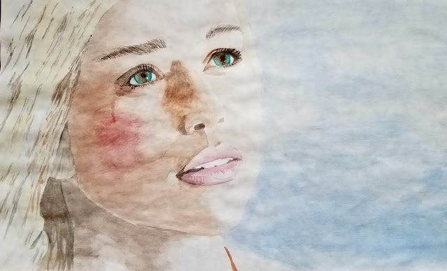 Watercolor Painting by Julie Maguda @ happilyeverchapter.blogspot.com - Daenerys from Game of Thrones